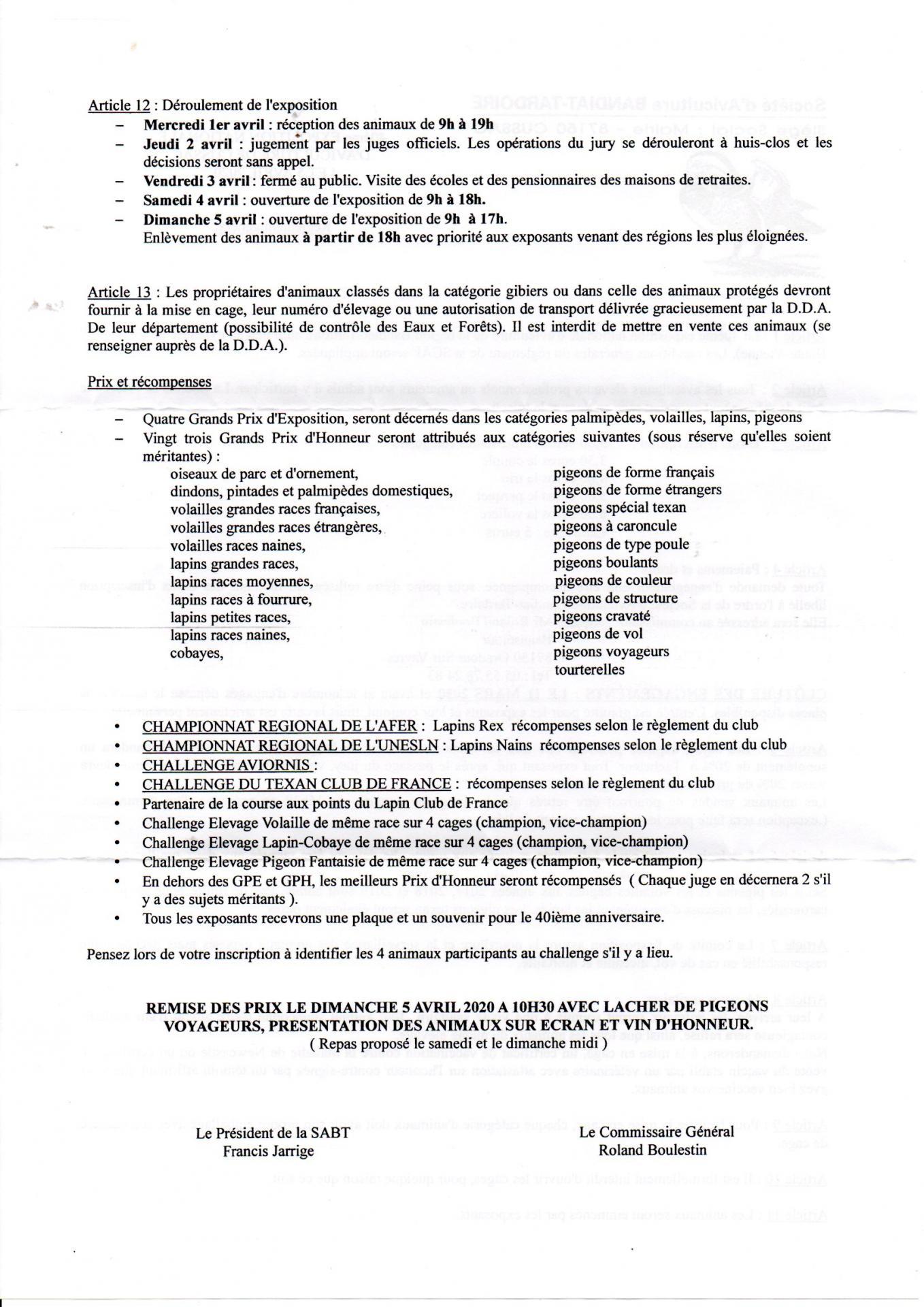Reglement cussac p2